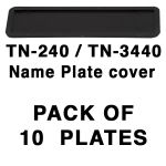 TN-2450 & TN-240  Name Cover plate x 10 units